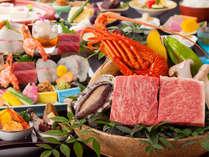 【レストラン/特選会席】じゅうじゅう石焼で讃岐牛とロブスター食べ比べ会席(一例)