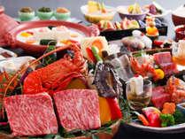 【レストラン 特選会席】 石焼で讃岐牛とロブスター食べ比べ会席(一例)