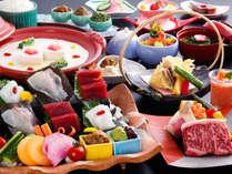 旬の食材を使った会席料理(一例)