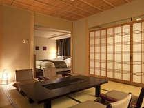 ◆特別室‐らくわ和洋室◆休息と団欒の空間が分かれているからこその、ゆとりある時間