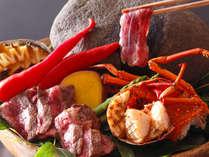 【レストラン‐ご夕食イメージ】ジュ~っと響く音と香りを楽しむことのできる「宝楽焼き」