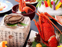 【個室食‐グレードUP会席】新鮮さ際立つ「海の二大饗宴」お祝いにも喜ばれる、華やかな逸品をお届けします