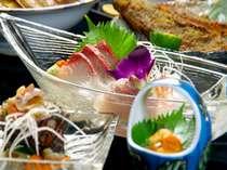 通常の海鮮会席よりグレードアップ!新鮮な海の幸をお腹いっぱい満喫♪(一例)