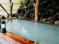 貸切露天風呂…自家源泉「新地蔵の湯」使用。1組30分無料でご利用いただけます。