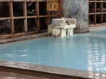 【女性大浴場】湯畑源泉と新地蔵の湯の混合泉。草津の湯を堪能してください。