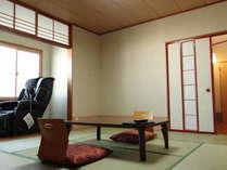 【和室8畳+6畳+マッサージチェアー】温泉&マッサージチェアーで全身をほぐして下さいませ。