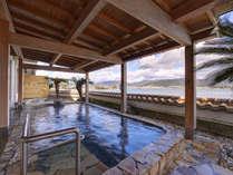 *【1階露天風呂】爽やかな風に吹かれながら奥浜名湖の絶景を御堪能ください◇