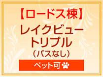*【ロードス棟】レイクビュートリプル(バスなし)(ペット可)