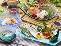 *【和食会席:夏(一例)】季節ごとに旬の食材を活かした和会席を展開、ぜひ御堪能ください