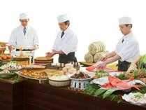*【ディナーバイキング(一例)】和の職人が腕を振るった料理をお愉しみください。
