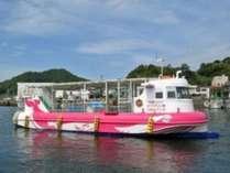 牛深海中公園の美しい海を観ることが出来るグラスボート