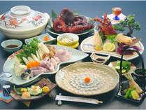 伊勢海老お造りも♪旬のとらふぐも味わえる全10品会席!冬の人気食材でお楽しみ♪