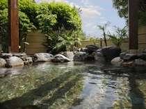 露天風呂(昼間・男性側)ナトリウムー塩化物温泉