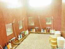 女性浴場:内湯洗い場