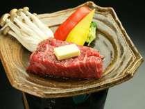 当館一番人気!上州牛ステーキ。群馬といえばコレ!お好みの焼き具合でお楽しみください。