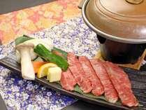 牛肉の陶板焼き