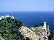 地球岬。断崖絶壁が続く景勝地です。