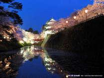 *弘前城の夜桜ライトアップに思わずうっとり…♪