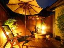 檜の露天風呂夜空をながめて貸切(無料)で気兼ねなく大人2名様サイズ14時~24時 6時~10時