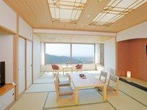 会津城下町の眺望を望める客室です/タワー館禁煙和室(2019年リニューアル)