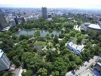 中島公園側客室は、日本都市公園認定の中島公園を一望できる眺望が人気!