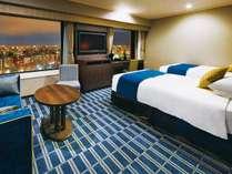 【デラックスツイン】15階以上の高層客室(39.3平米/ベッド幅120cm) パークビュ/マウンテンビュー