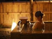 離れ特別室内露天風呂:源泉掛け流し/2012年4月撮影