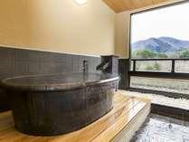 瑠璃:陶器風呂