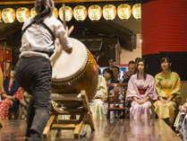 【毎晩開催!】当館スタッフによる太鼓演奏&地元民謡歌手による郷土芸能ショー♪