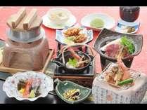 秋の彩り焼き松茸・釜飯付き松茸と氷見牛プラン(9月)