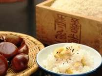 秋の料理一例です。自然溢れる信州ならではの食材を使った、お食事をお楽しみください。