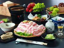 信州産ブランド豚肉SPF豚の蕎麦茶で湯くぐり二食付きプラン