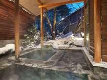 今の時期の冬の露天・雪見風呂は寒いけれど気持ちいいですよ