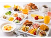 朝食 洋食盛り合わせ(一例)