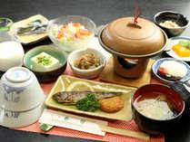 【朝食の一例】地元産の野菜と、こだわりぬいたお米で高千穂の朝食をお召し上がりください♪