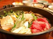 *上州牛のすき焼き鍋コース。味&ボリューム人気のプランです♪