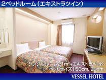 エキストラツインルーム☆横幅90cmのベッドを追加しました!ご家族様大好評♪