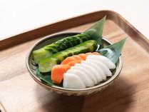 ぜひご飯に添えて食べていただきたい、手作りの野菜のぬか漬けです♪ご飯がすすみます!