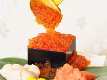 朝食でイクラ(マスイクラ)等が食べ放題【H30.3月末まで】*鮭のイクラよりも小粒のイクラです♪