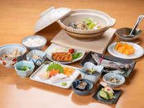 *夕食(一例)/野菜を中心とした、身体に優しい料理をご用意致します。