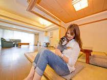 『ペットスイート』1部屋小型の犬1匹まで。体長60cm以内体重10kg未満とさせて頂きます