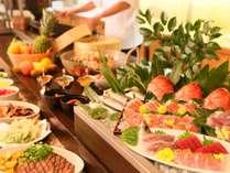 ★新鮮なお刺身、和食、中華のメニューが魅力の夕食バイキング