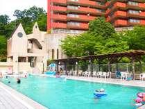 夏季限定!屋上ガーデンプール♪プール含む館内施設の利用は13:.00~ご利用頂けます☆