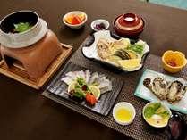 広島県江田島産♪タコの刺身・天ぷら・釜飯とタコづくし!さらに蒸し牡蠣も付いてくる「タコ味わい会席」
