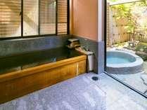 全室に露天風呂、内風呂完備なのでお好きな時お好きなだけ温泉を満喫していただけます。