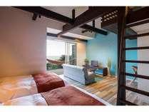 特別室 海一望プライベートデッキでハンモック!自慢の景色と解放感をたっぷりお楽しみ下さい。