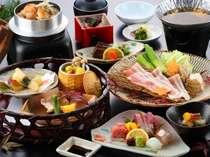 豚肉のしゃぶしゃぶと、旬の魚介をご賞味ください! 【旬の籠盛と豚しゃぶ会席】