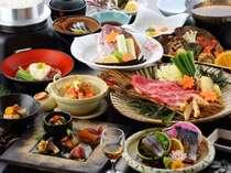 「関鯖のお造り」「松茸と牛肉のすき焼き」がメインの【料理長おすすめ!関鯖お造りと牛松茸すき焼き会席】