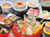 【2018~2019冬■桶盛り】当宿の一番人気プラン♪旬魚のお造りやすき焼きなどをどうぞ!
