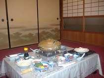 名水豆腐を使用した湯豆腐鍋